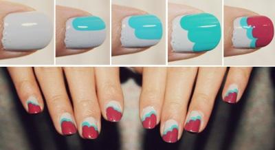 фото рисунки простые на ногтях