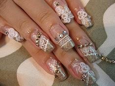 свадебные рисунки на ногтях фото